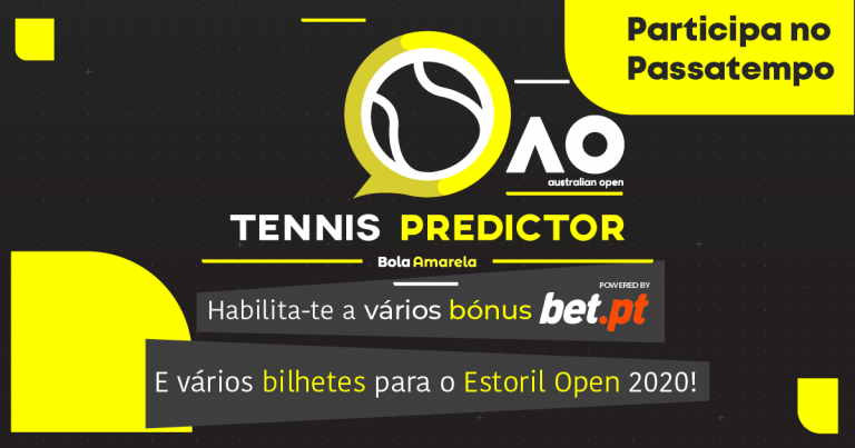 O Australian Open Tennis Predictor dá prémios bet.pt, ProTennis e bilhetes para o Estoril Open