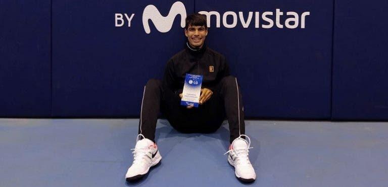 16 anos e dois títulos em duas semanas: Carlitos Alcaraz está imparável