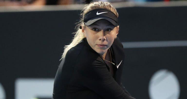 Anisimova está infetada com Covid-19 e fica com Australian Open em risco