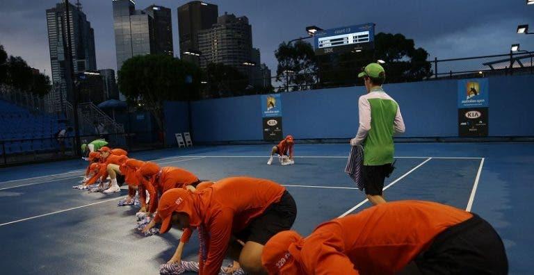 Não vai ser fácil: Australian Open espera (muita) chuva nos primeiros 4 dias