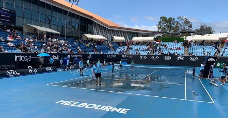 Australian Open: tempestade de areia deixa courts exteriores impraticáveis
