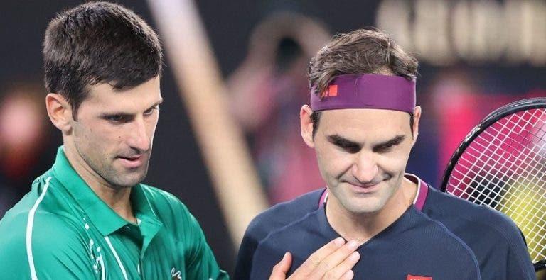 Djokovic triste com lesão de Federer: «Roger é Roger. O ténis precisa dele»