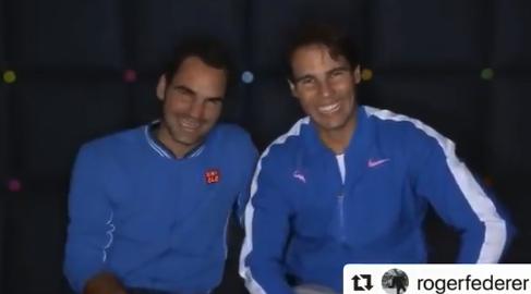 [VÍDEO] Imperdível: Dez anos depois, Federer e Nadal repetiram vídeo épico