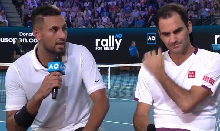 ATP compara Kyrgios a Federer e o australiano reage: «Ele é o GOAT»