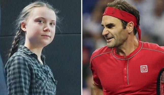 Greta Thunberg critica Roger Federer e divulga hashtag contra o suíço