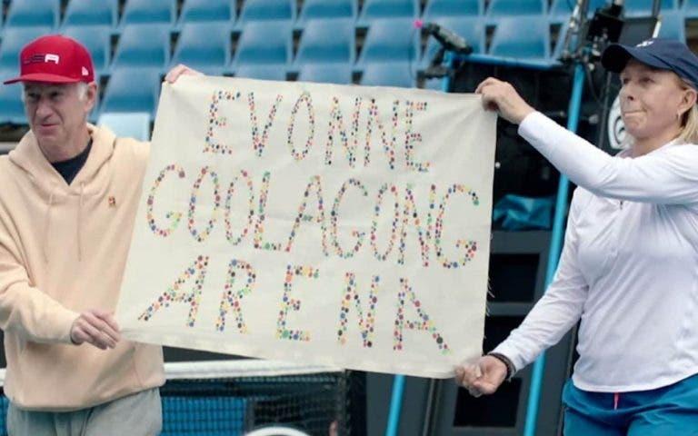 Navratilova e McEnroe desconheciam existência de protocolo e pedem desculpa