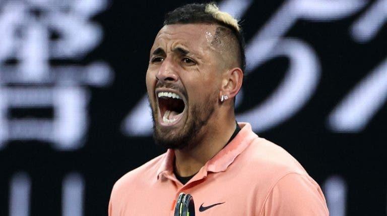 Kyrgios complica mas vai à terceira ronda do Australian Open