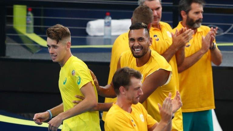 Kyrgios lamenta ausência de De Minaur: «Um dos melhores jogadores do Mundo»