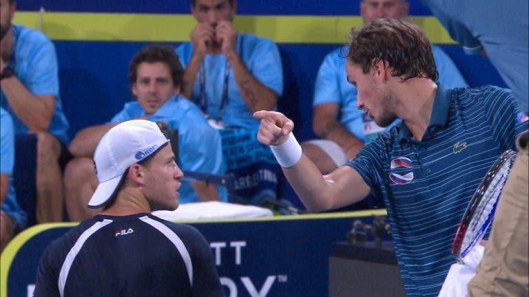 Corte de relações: Schwartzman diz que não fala mais a Medvedev após polémica na ATP Cup