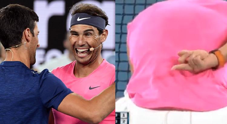 [VÍDEO] Djokovic e Nadal gozam com a NextGen: «Vês o quão lentos eles são?»