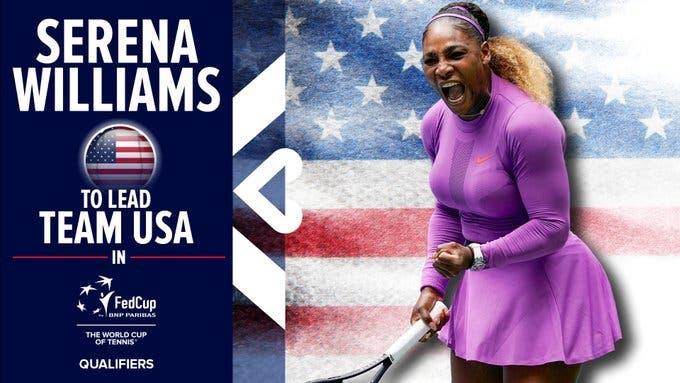 Serena Williams vai voltar à Fed Cup dois anos depois