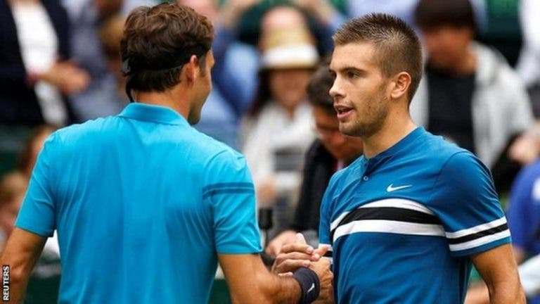 Coric: «Do Big Three, adoro jogar contra Federer. Dou 110%»