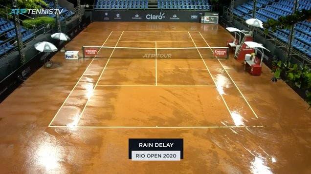 Chuva, chuva e mais chuva: Rio Open ainda não tem finalistas