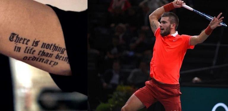 Borna Coric arrependido de tatuagem: «Tinha apenas 17 anos»