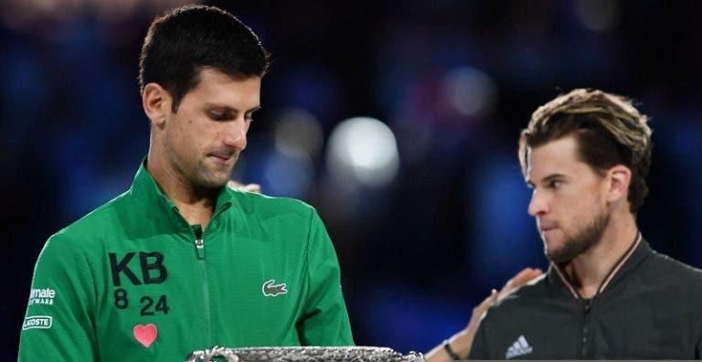 [VÍDEO] Djokovic lembrou incêndios, Kobe e Gianna Bryant no discurso de campeão