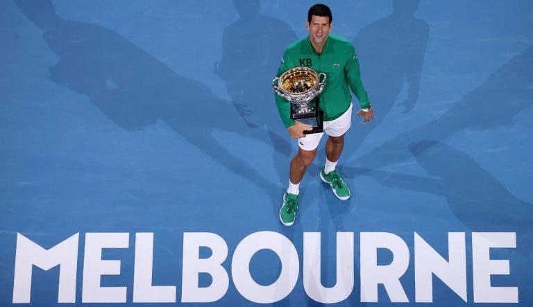 Djokovic conquista oitavo Australian Open e 17.º Grand Slam com virada inédita na sua carreira