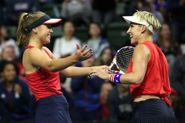 EUA vence par decisivo e garante presença nas Fed Cup Finals em Budapeste