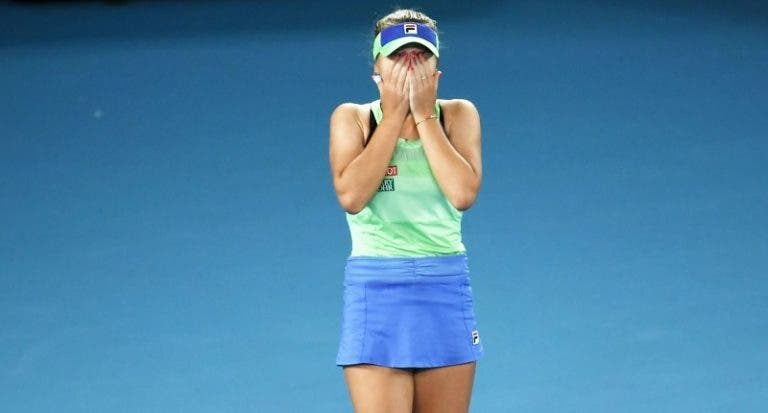 Campeã do Australian Open Sofia Kenin surpreendida na 2.ª ronda em Doha