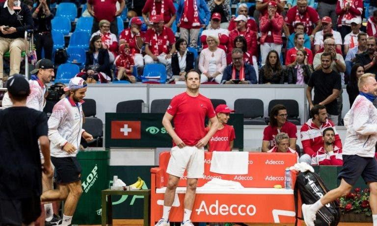 Sem Federer e Wawrinka, Suíça confirma descalabro e desce para a 3.ª divisão na Taça Davis
