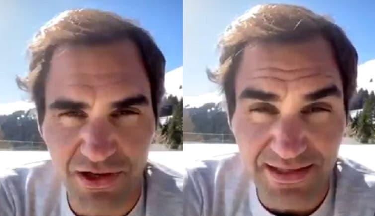 Federer reaparece em público semanas depois e pede: «Fiquem em casa»