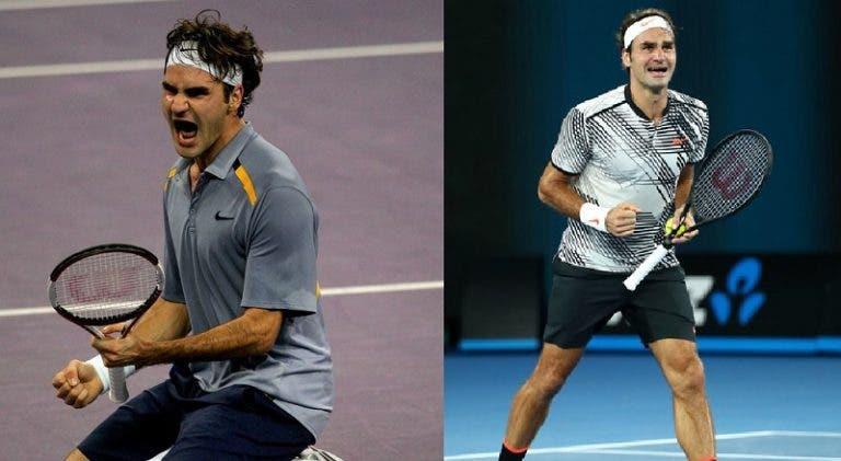[VÍDEO] Federer 2006 vs. Federer 2017: quem venceria?