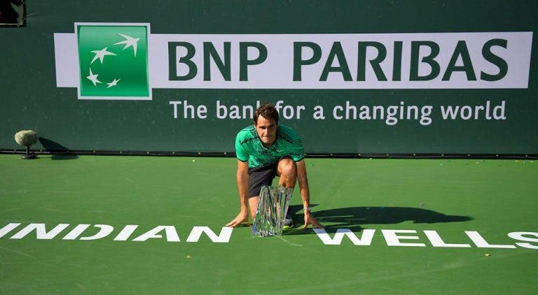 [VÍDEO] Ainda se lembra como é que Federer ganhou o seu último título em Indian Wells?