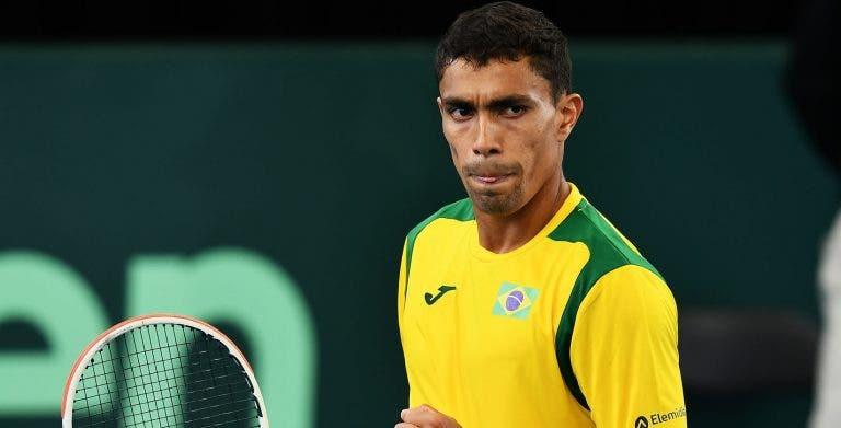 Austrália-Brasil, 1-0: Thiago Monteiro derrotado por Thompson