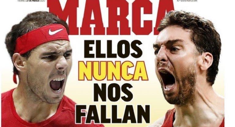 A fantástica capa da 'Marca': «Eles nunca nos falham»