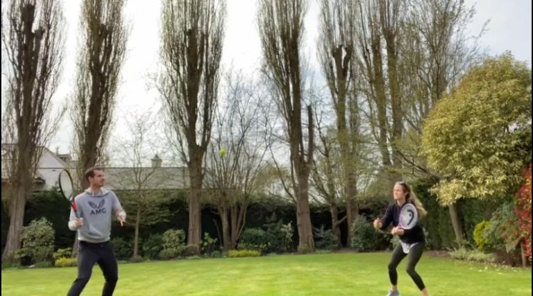 [VÍDEO] Murray lança 'challenge' com esposa e desafia Federer e Mirka