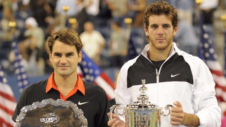 Del Potro faz revelação curiosa sobre a final do US Open 2009 com Federer