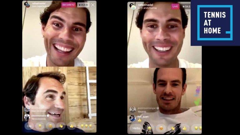 Reveja o vídeo completo do direto de Nadal, Federer, Murray e Marc López