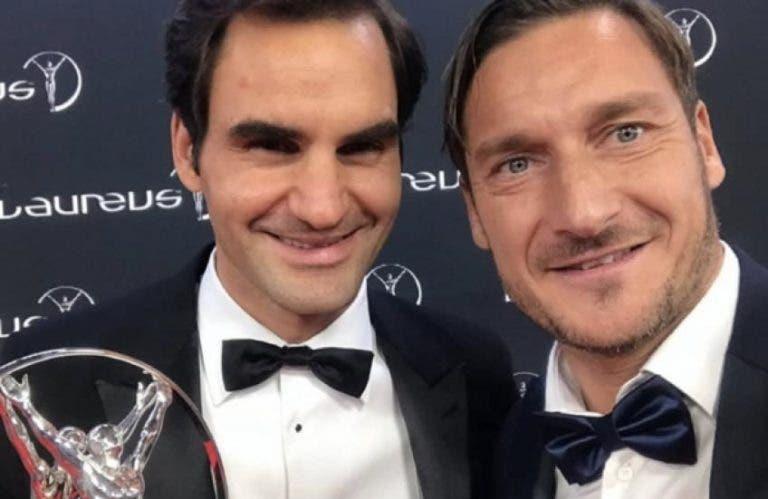 Totti: «Para mim, Federer é o ténis. Talvez o convide para jogar padel»