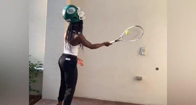 [VÍDEO] Gauff também já aderiu ao desafio de Roger Federer