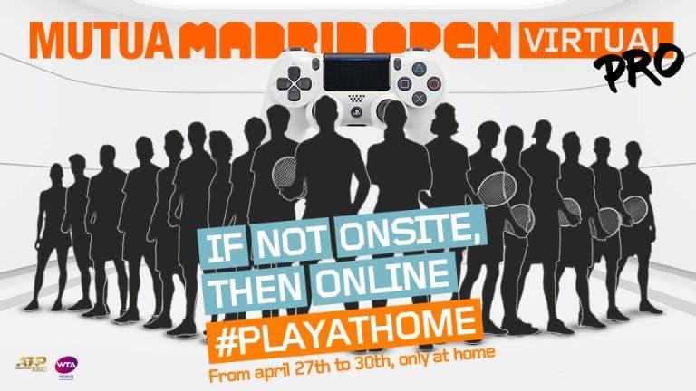 Conheça os primeiros tenistas garantidos no Madrid Open virtual