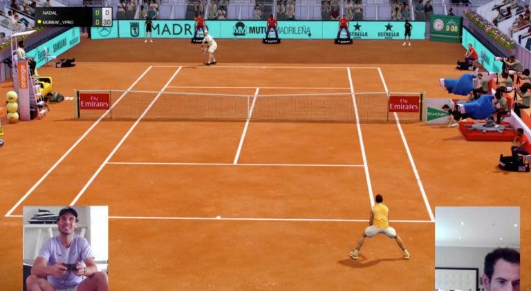Murray arrasa o 'rei' da terra batida Nadal no Madrid Open virtual