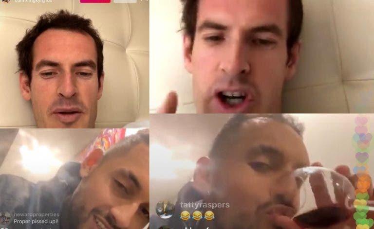 Kyrgios, bêbedo em direto com Murray: «Tu és definitivamente melhor do que o Djokovic»