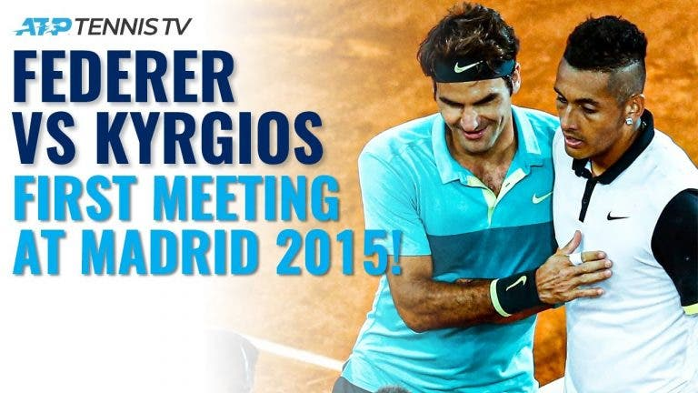 [VÍDEO] Há cinco anos, Federer e Kyrgios defrontaram-se pela primeira vez