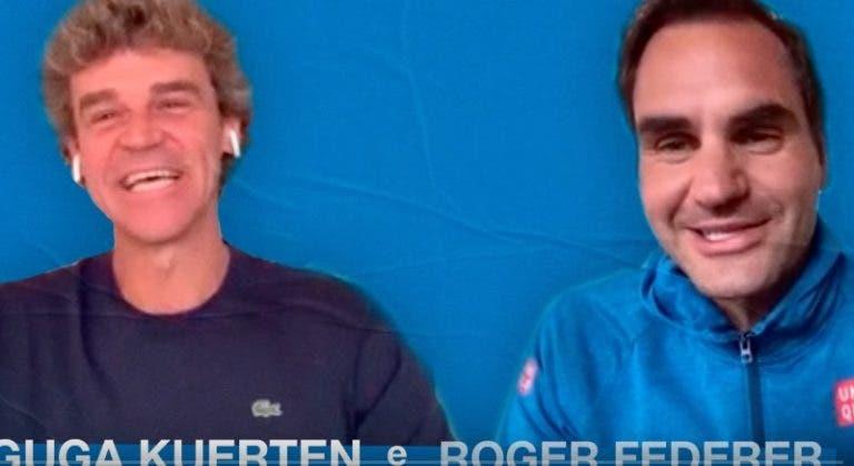 Guga lembra primeiro encontro com Federer: «Ao fim de 20 minutos estava a perder 6-0»