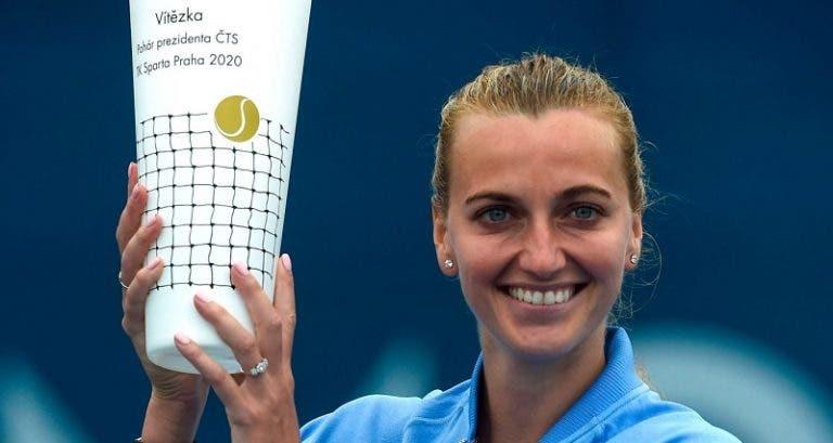 Kvitova joga muito e volta a erguer um troféu em Praga