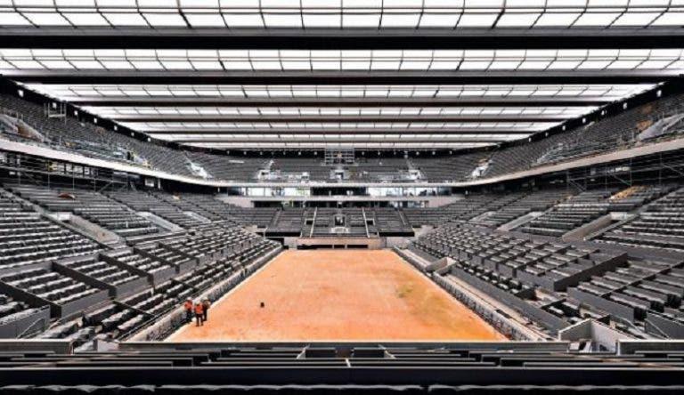 Federação Francesa revela data do fim das obras em Roland Garros