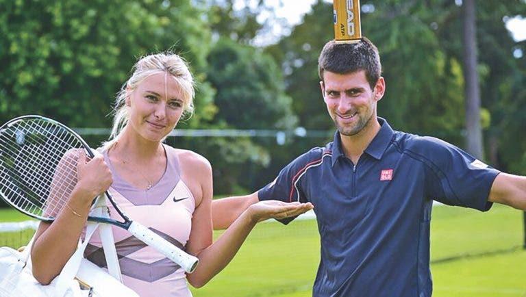 Sharapova goza com Djokovic em direto: «Não vamos abraçar árvores pois não?»