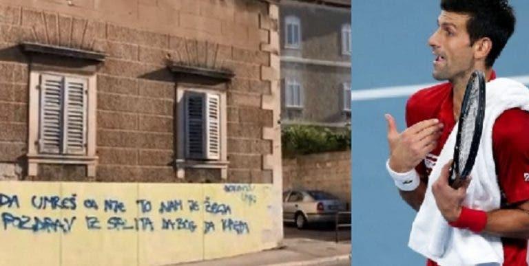 Croatas pintam ruas e desejam morte a Novak Djokovic