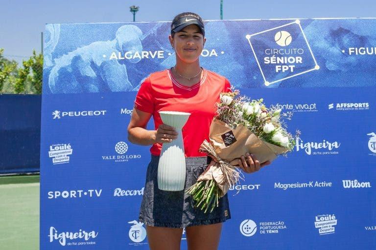 Inês feliz com título e Francisca admite que a rival jogou melhor do que no Algarve