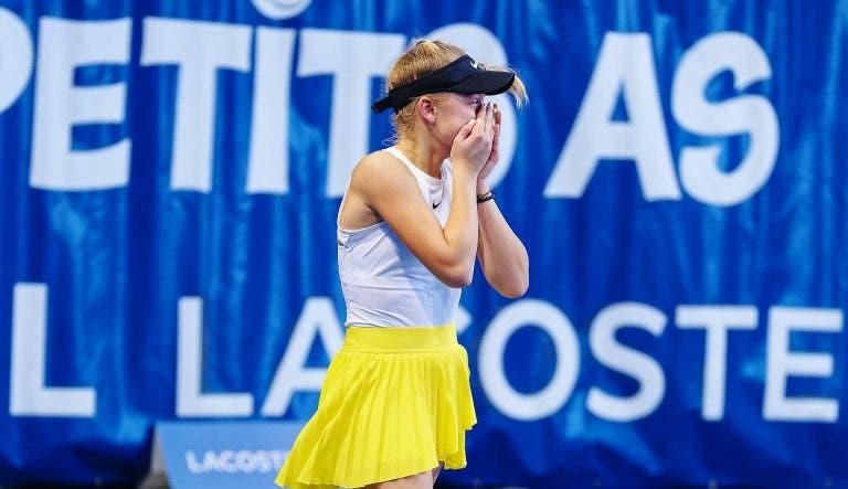 Número 54 WTA perdeu com uma miúda de 13 anos na República Checa