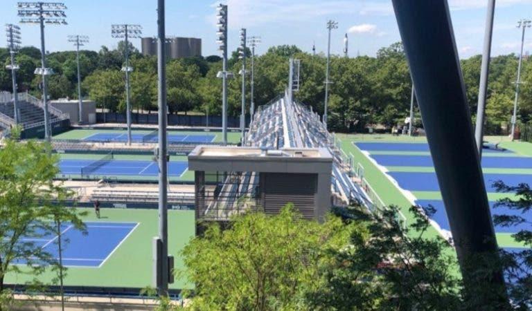 [FOTOS] Palco do US Open (e de 'Cincinnati') está a ficar pronto
