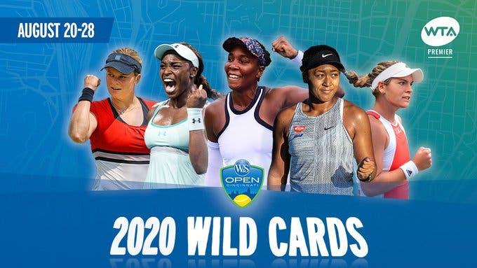 Cincinnati: quatro campeãs de Grand Slam recebem wild card