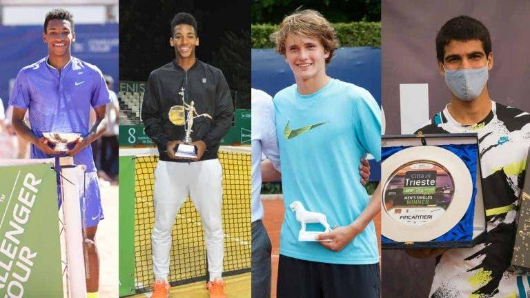 Carlos Alcaraz: nos últimos 10 anos, só outros dois jogadores venceram Challengers antes do 18 anos