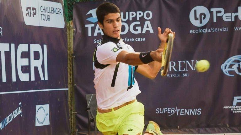 Carlos Alcaraz é o primeiro jovem nascido em 2003 a ganhar um Challenger