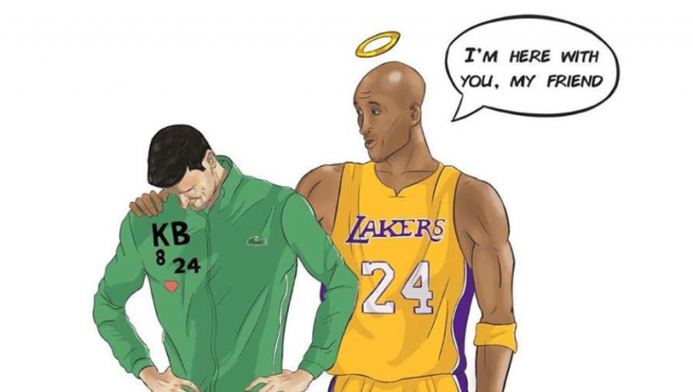 Djokovic não se esquece de Kobe Bryant no aniversário do basquetebolista