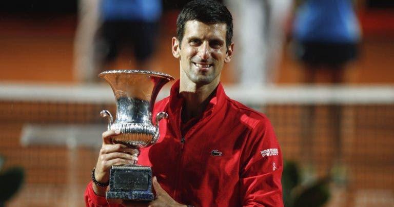 Djokovic garante liderança até (pelo menos) novembro e ameaça cada vez mais recorde de Federer